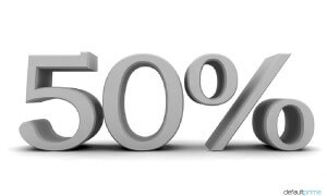 50% of all books are written by ghostwriters.